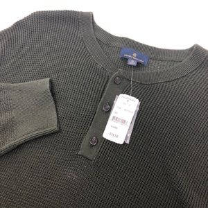 Brooks Brothers Green Quarter Button Sweater